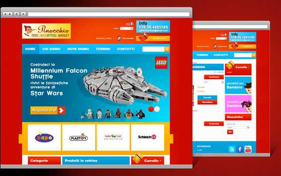 Creation of an e-commerce website for Pinocchio Toys